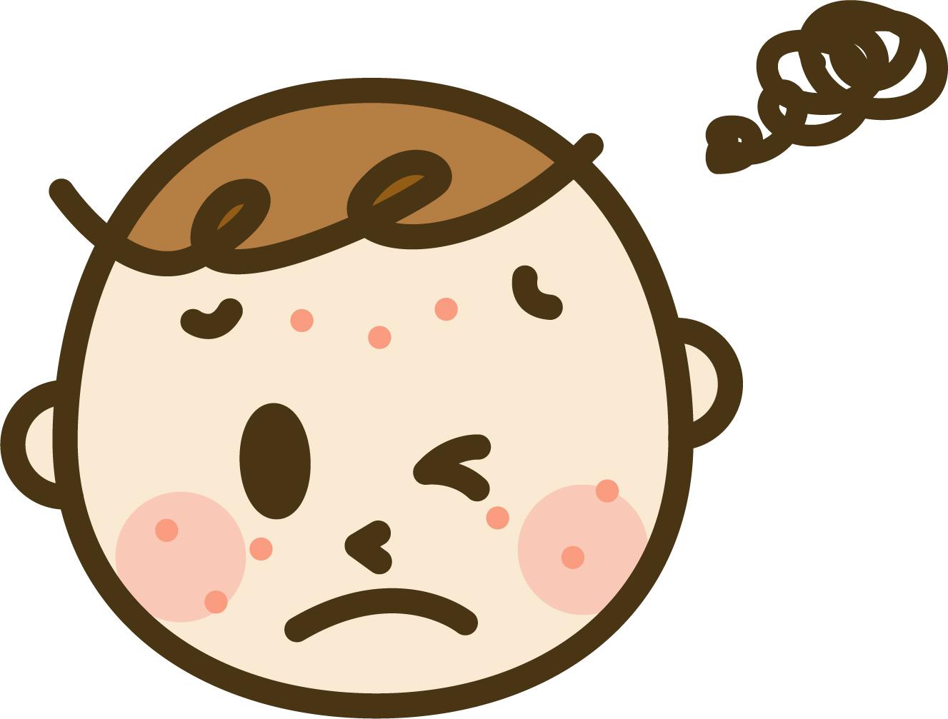 ニキビや肌トラブルで困っている人の顔