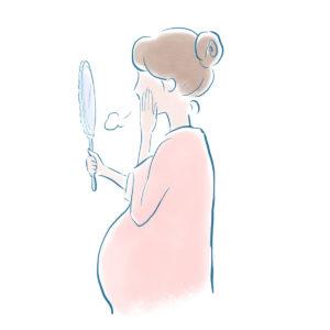 お産のあとに顔と体中にシミができた