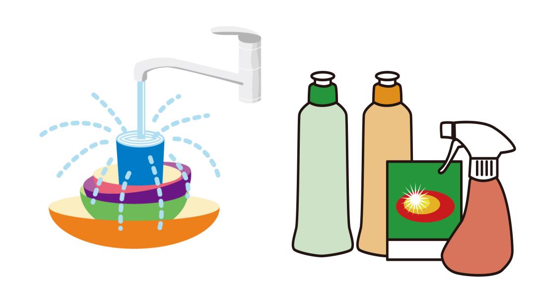 食器洗いと洗剤
