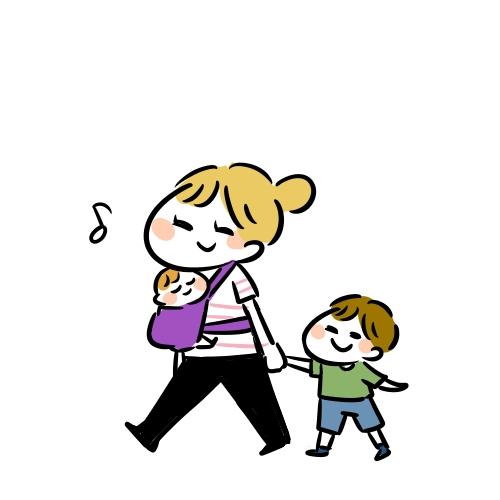 ママと赤ちゃんと子供