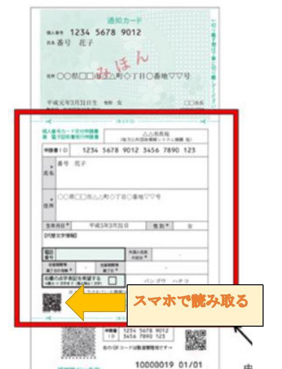 個人番号カード交付申請書 兼 電子証明書発酵申請書