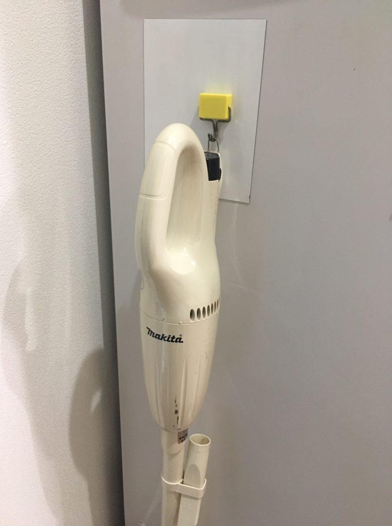 マキタの掃除機のスタンド代用